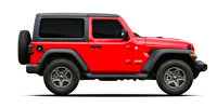 Rent a Jeep Wrangler 2P in Cancun